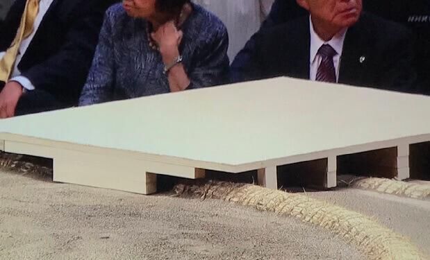 トランプ大統領 階段 俵に触れない