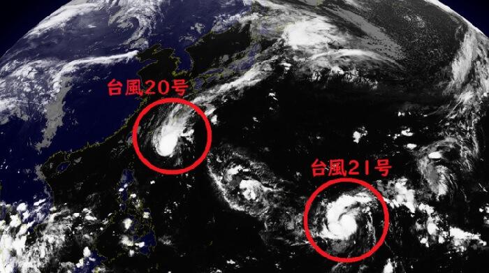 台風19号 20号 日本上陸