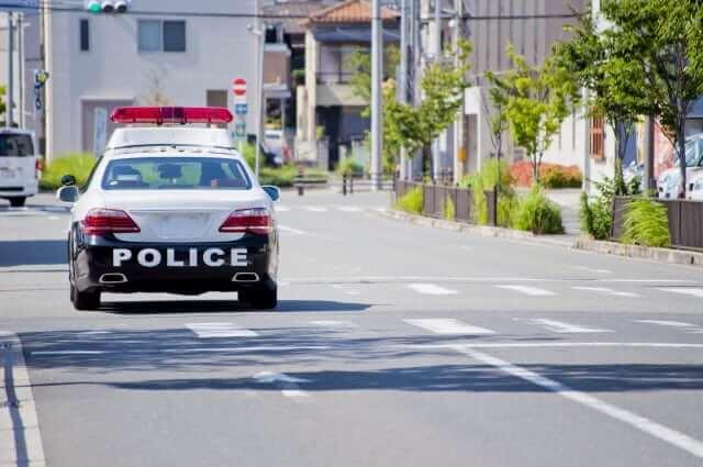 阿波の黄走り 道路交通違反