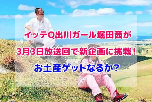 イッテQ 堀田茜 出川哲郎