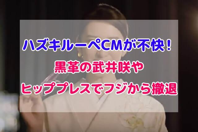 ハズキルーペ CM 不快 武井咲