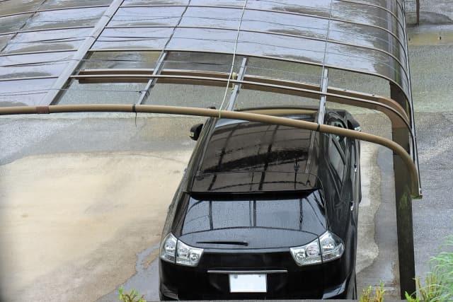 台風 駐車場 車 カーポート