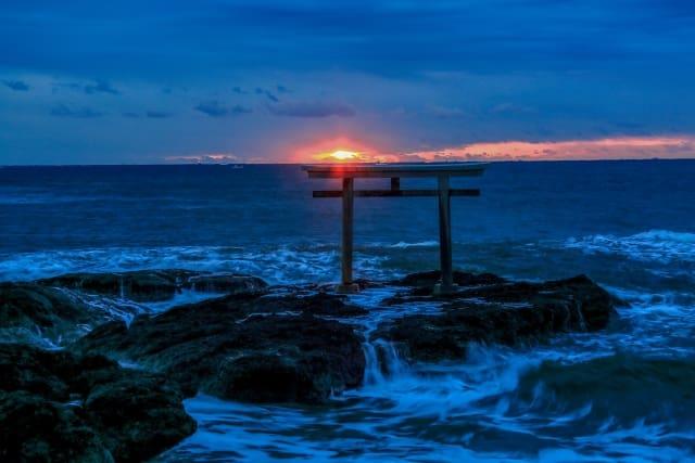 常磐神社 近い 初日の出 スポット 大洗海岸