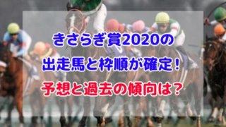 きさらぎ賞 2020 出走馬 枠順 確定 予想