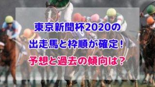 東京新聞杯 2020 出走馬 枠順 確定
