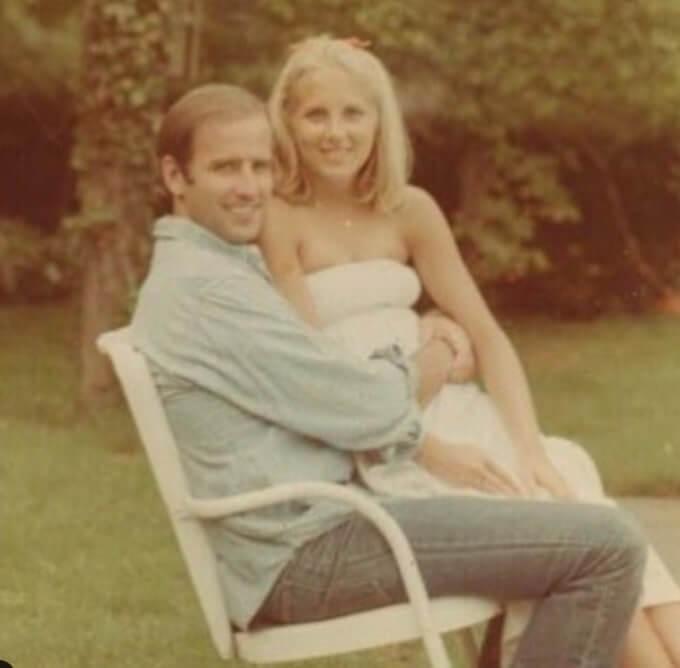 ジル・バイデン 結婚当初 画像