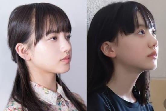 清原果耶 芦田愛菜 横顔 似てる