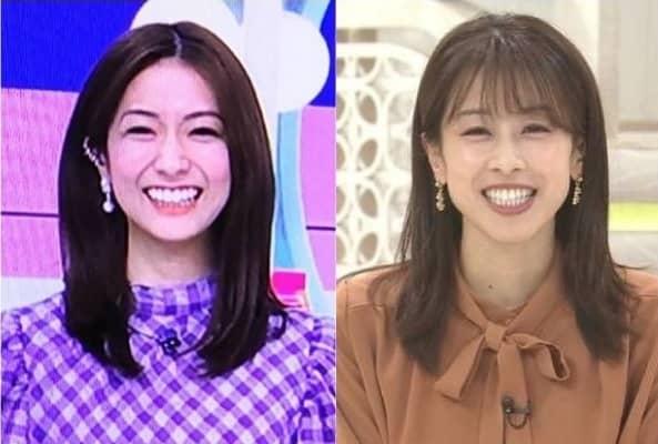 田村真子 加藤綾子 歯 大きい 比較