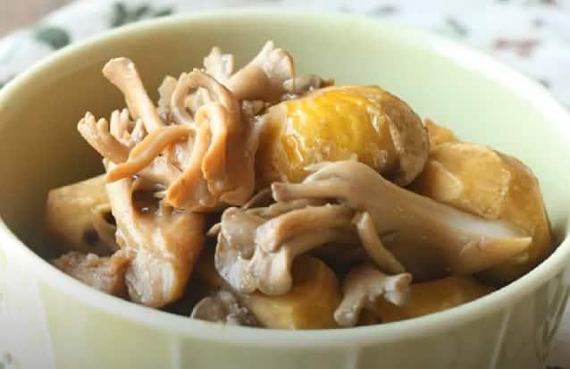 重陽の節句 食べ物 栗と鶏肉の煮物