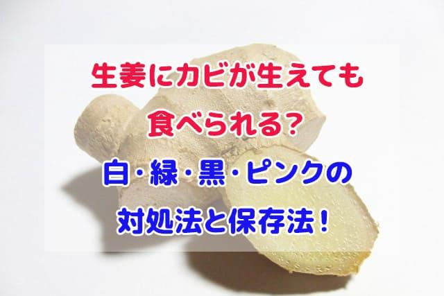 生姜 カビ 食べられる