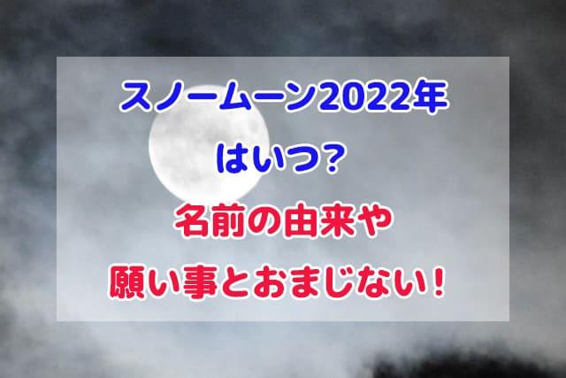 スノームーン 2022年 いつ 名前の由来 願い事